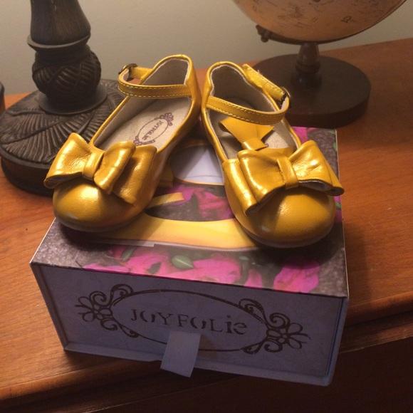 8817146bc6d Joyfolie Yellow Loralie Bow Shoes