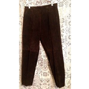 Vintage Brown Suede Pants Leather 16