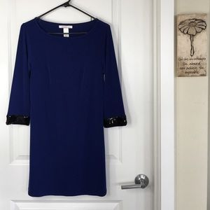 Laundry by Design Dresses & Skirts - Laundry by Design Blue Dress with Sequin Arms
