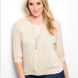 Tops - ONLY ONE 2X LEFT!!  Alluring Cream Fall Top
