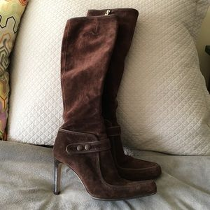 Sergio Rossi Shoes - Sergio Rossi brown suede boots