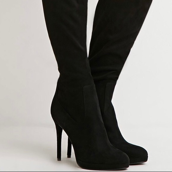 f39a8b99d81 Forever 21 Shoes - Forever 21 Faux Suede Over The Knee Boots