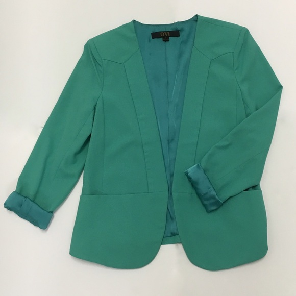 Ovi Jackets & Coats - Green Blazer With Pockets