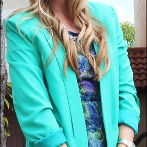 Ovi Jackets & Blazers - Green Blazer With Pockets