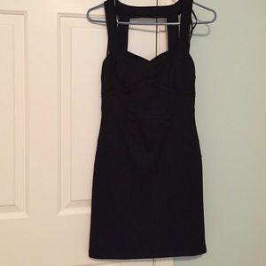 Black Rampage dress. Cutout back, size M