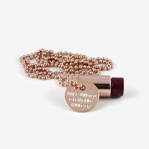 Bullet Necklace - Rose Gold/Plum