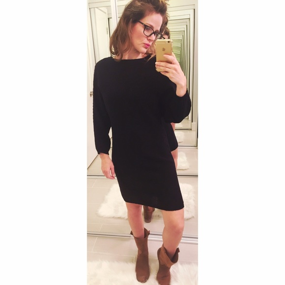 9186a30986 ➡️Zara Knit Black Sweater Dress⬅ . M 57e1ae92981829e85f030b4a