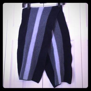 Blue striped GAP scarf 100% Merino Wool