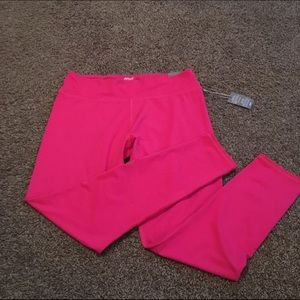 NWT Aerie hot pink full length leggings large
