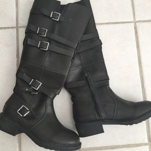 Olive wide width knee high boots
