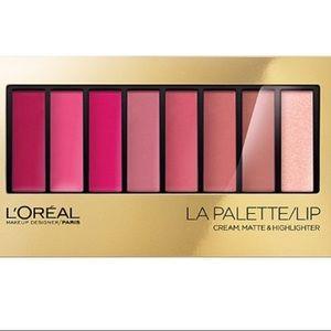 L'Oreal Other - L'oreal LA Palette lip cream set- pink shades-NWT!