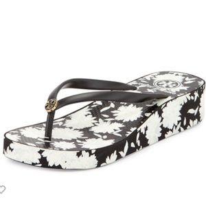 Tory Burch 11 Flip Flop sandal THANDIE floral NIB