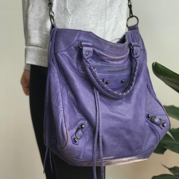 56720aab8c Balenciaga Velo Violet Purple Handbag