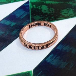 💥4 for $10 💥 Wish Ring 'BELIEF' in Rose Gold