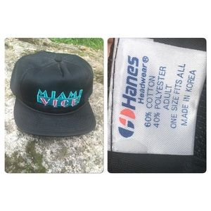 ee021e16 Vintage Accessories | Vtg 80s Miami Vice Snapback Cap Trucker Hat ...
