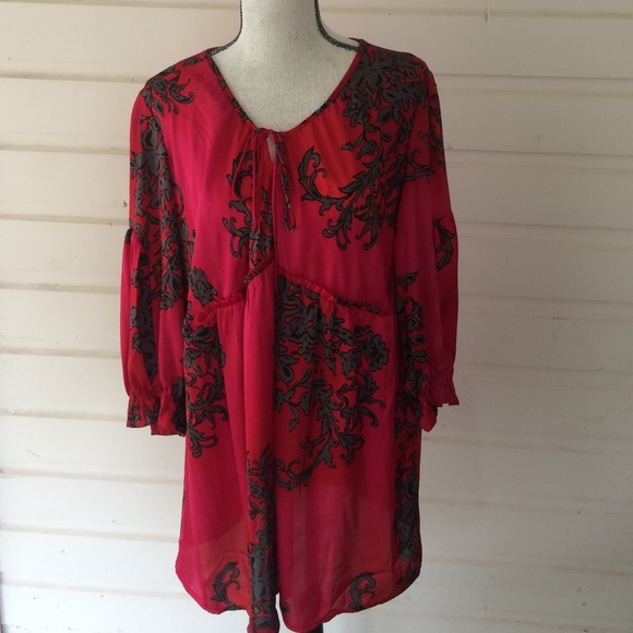 7fd066a9ff8 Just My Size Tops | Evolution By Jms Red And Pink Tunic | Poshmark