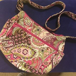Vera Bradley cross body saddle bag purse