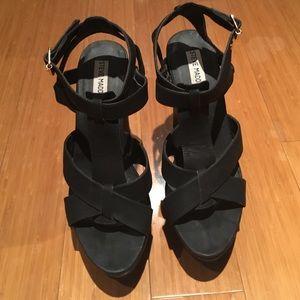 Steve Madden Shoes - Steve Madden Black Sandal Wedges