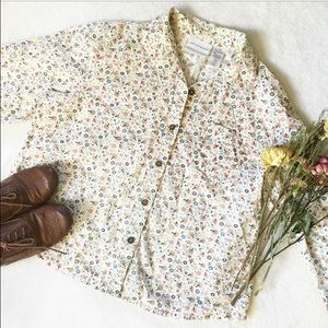 Alfred Dunner Tops - Floral Vintage Style Button Up Shirt