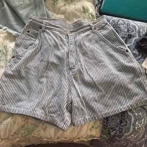amazing pinstripe vintage high waisted shorts
