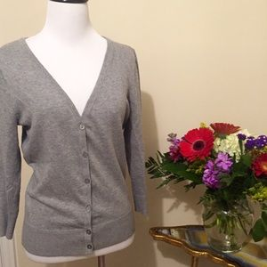 14th & Union Sweaters - Gray V-Neck Cardigan