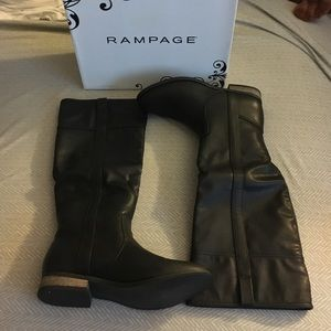 Tall black boots