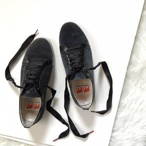 Twins For Peace velvet sneakers