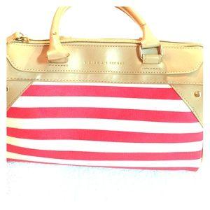 Victoria's Secret Hand Bag- Pink/White stripe