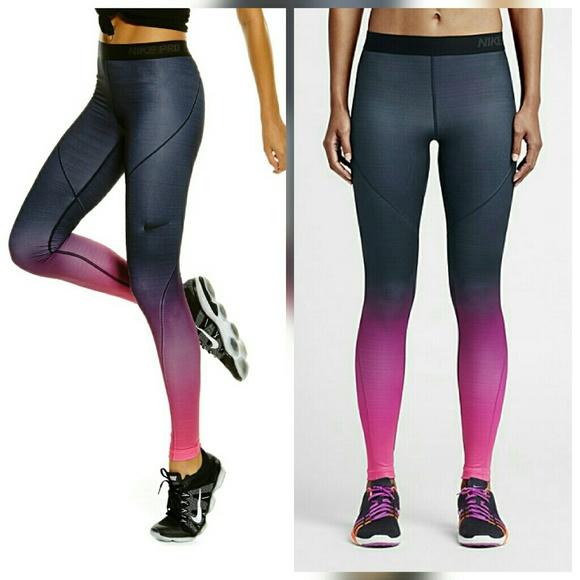 Nike Pro Hyperwarm Ombre Legging Tights Pants