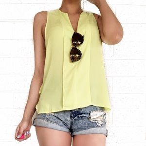 Anthropologie Tops - Anthropologie Maeve chartreuse top