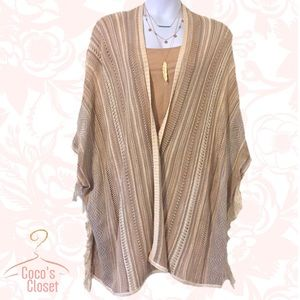 Knox Rose Jackets & Blazers - 🎉12/31 HP🎉 NWT striped fringed poncho