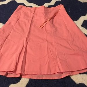 🎉closet clear out! J.Crew coral/pink a line skirt