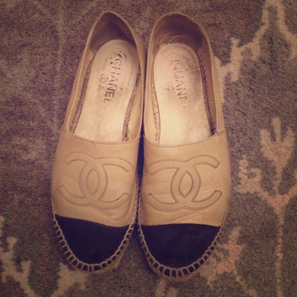 56 chanel shoes chanel leather espadrilles from