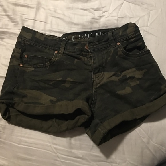 48% off Pants - Army camo jean shorts from Jackie's closet on Poshmark