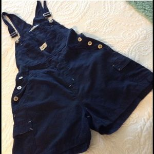 Anchor Blue Pants - ANCHOR BLUE OVERALL SHORTS S JR NWOT