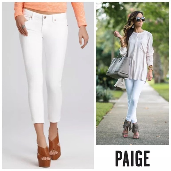 685c057e4a0 PAIGE Jeans | Nwt Kylie Crop With Roll Up Optic White | Poshmark