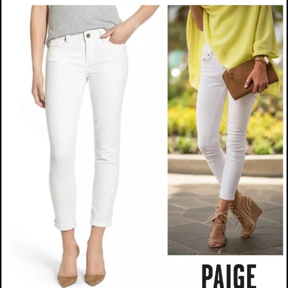 64% off Paige Jeans Denim - NWT Paige Kylie Crop with Roll Up ...