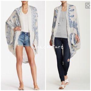 Vivacouture Sweaters - Chic Henna Print Kimono Cardigan Shawl
