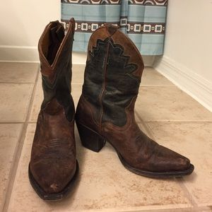 J.b. Dillon Shoes - Brown and black leather cowboy boots