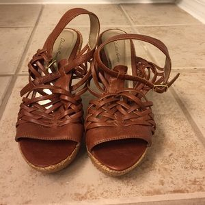 Brown wedges - worn 2x