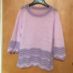 Lilac mohair sweater