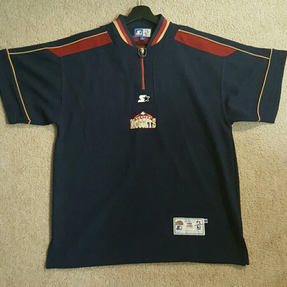 more photos 12d52 a47c6 Authentic 90s Denver Nuggets nba warmup shirt