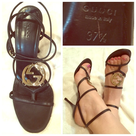 936c5a7aae50 Gucci Shoes - ⬇ Authentic Gucci Logo strappy heel sandals