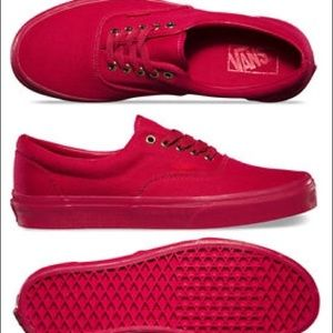 low top vans red