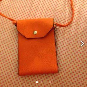 Handbags - 💵 NEED GONE Orange cell phone bag