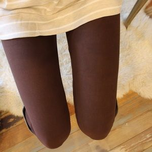 Brown soft knit leggings