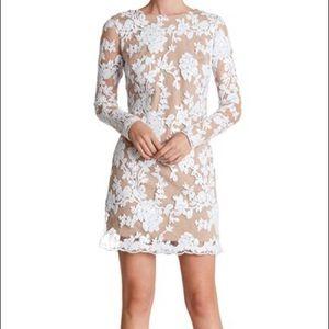 Dress the Population Grace sequin lace white dress