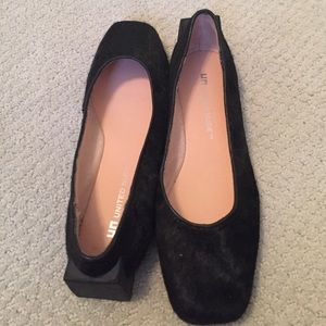 United Nude Shoes - United Nude black pony flats squared heel, 6.5