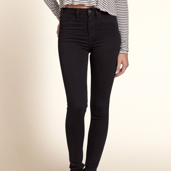 80% off Hollister Denim - Black Hollister Skinny Jeans (NO ...