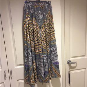 🌈Tribal Print Long Maxi Skirt